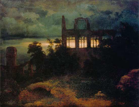 Böcklin. Ruinas del castillo, 1847