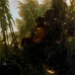 Böcklin. Pan en los cañaverales, 1856-1857