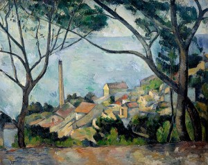 Cézanne. El mar en l'Estaque, 1879
