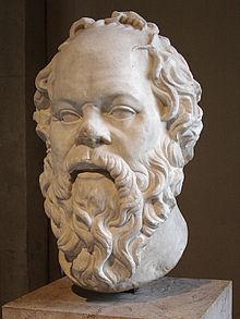 Busto griego de Sócrates en el Musée du Louvre