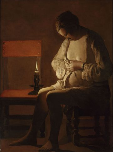 Georges de la Tour. Mujer espulgándose. Musée Lorrain, Nancy