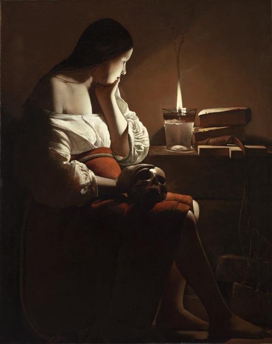Georges de la Tour. Magdalena penitente. Los Ángeles Countoy Museum of Art, LACMA