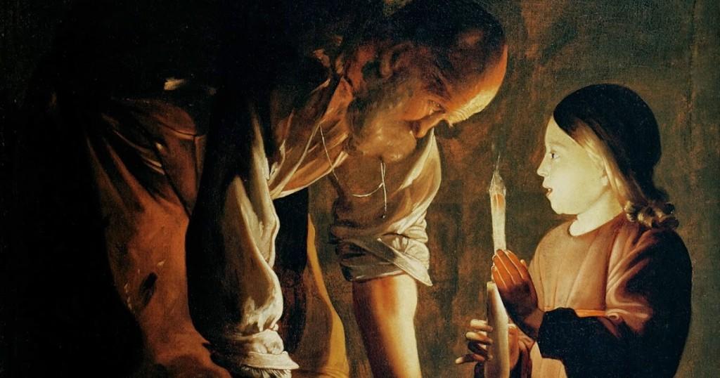 Georges de la Tour. San José carpintero. Musée du Louvre