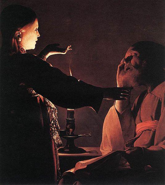 Georges de la Tour. Aparición del ángel a san José. Musée des Beaux-Arts, Nantes