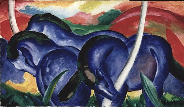 Franz Marc. The Large Blue Horses, 1911