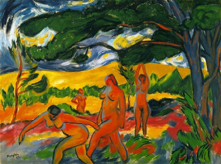 Max Pechstein. Under the Trees