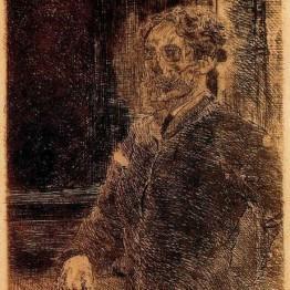 James Ensor. Autorretrato, 1889
