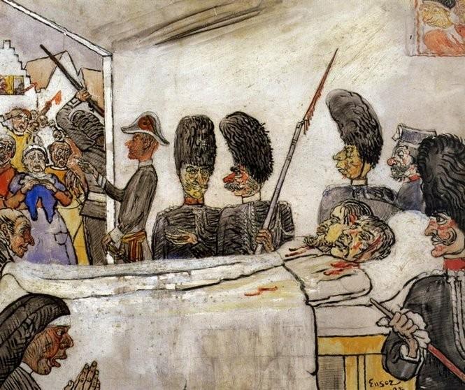 James Ensor. Los gendarmes, 1888