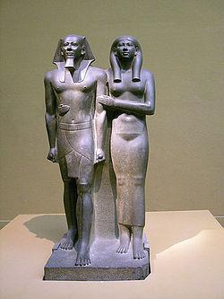 Micerino y su esposa. Museo de Boston