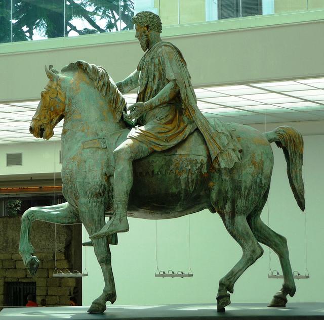Estatua romana de Marco Aurelio, siglos II d.C