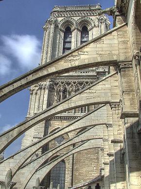 Arbotantes de la Catedral de Notre Dame, París, siglos XII-XIV