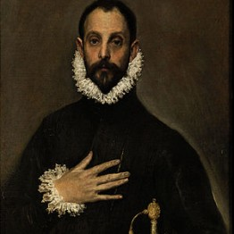 El Greco. Retrato del caballero de la mano en el pecho, hacia 1583-1585