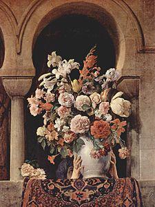 Francesco Hayez. Vaso de flores en un harén, 1881