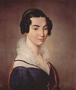 Francesco Hayez. Retrato de Antonieta Vittali, 1823
