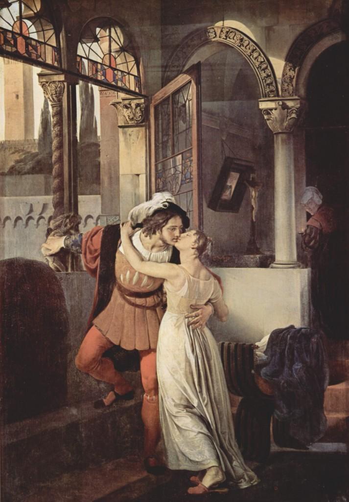 Francesco Hayez. Último beso de Romeo y Julieta, 1823