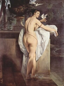 Francesco Hayez. Venus con dos palomas, 1830