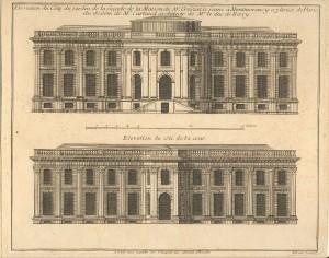 Alzado del Hôtel Crozat, 1700-1702