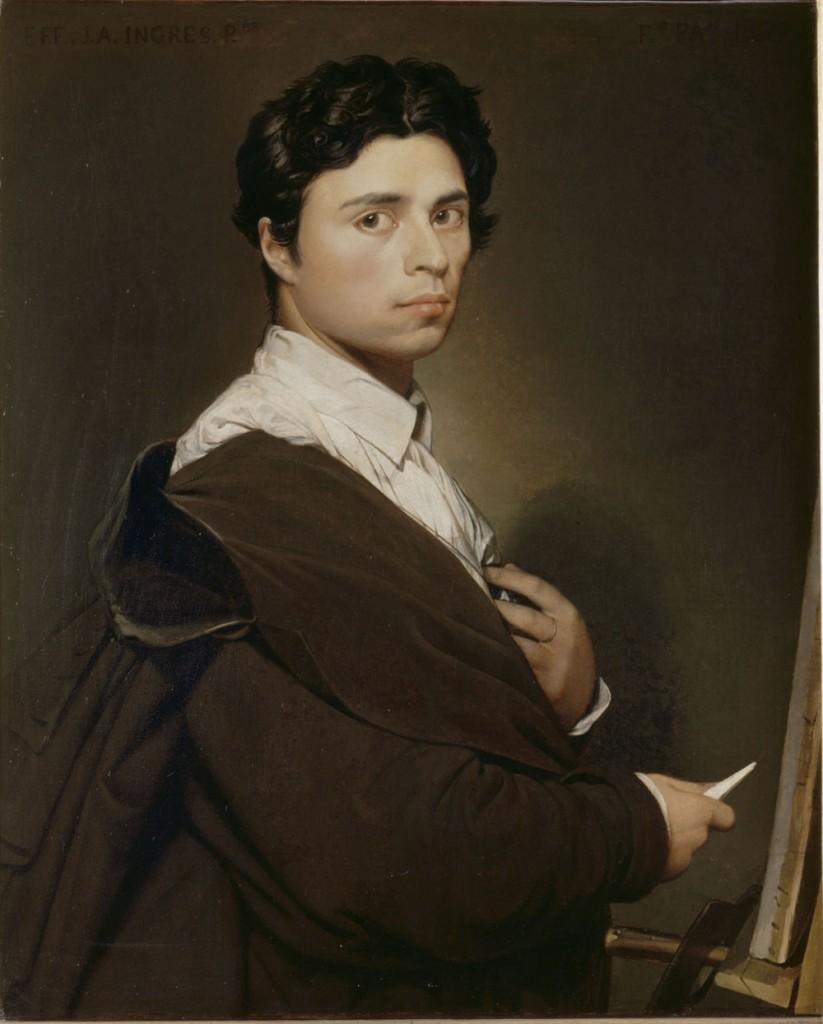 Pintores del Romanticismo.  Ingres. Autorretrato, 1804