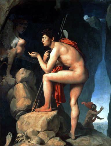 Pintores del Romanticismo. Ingres. Edipo y la esfinge, 1808