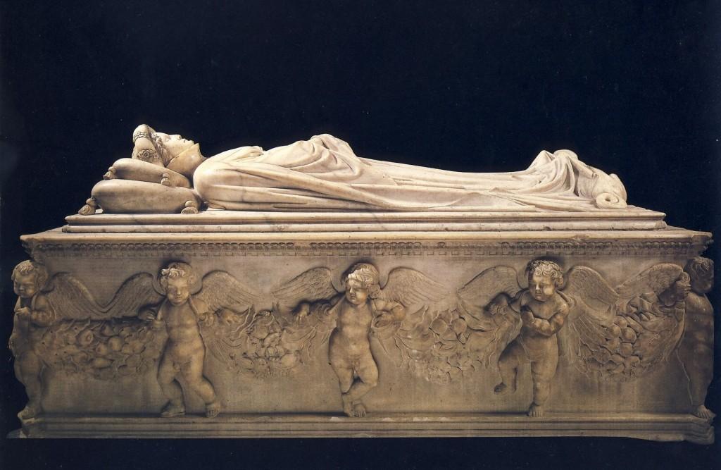 Jacopo della Quercia. Sepulcro de Ilaria del Carretto, 1406. Catedral de Lucca
