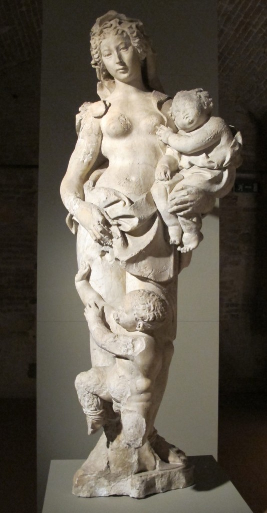 Jacopo della Quercia, Acca Larentia en la Fonte Gaia, 1409