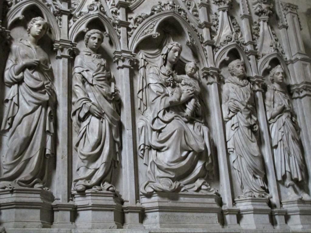Jacopo della Quercia. Retablo de san Frediano, 1416-1422. Catedral de Lucca