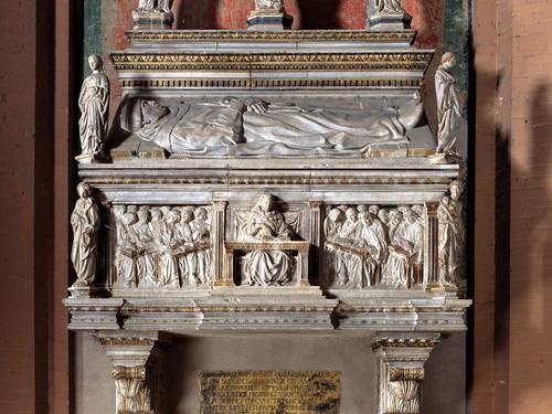 Jacopo della Quercia. Sepulcro de Anton Galeazzo Bentivoglio, 1438. Iglesia de san Giorgio Maggiore, Bolonia