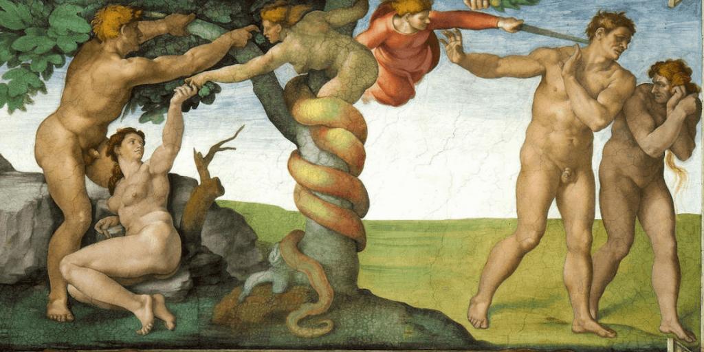 Miguel Ángel Buonarroti. El pecado original, 1508-1512. Capilla Sixtina