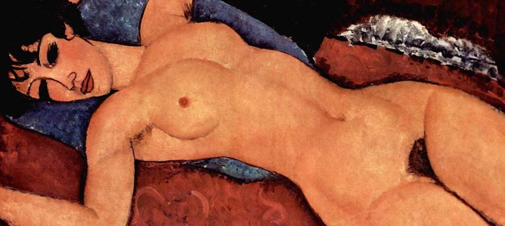 Amedeo Modigliani. Desnudo acostado, 1917