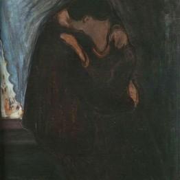 E. Munch. El beso, 1897