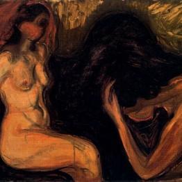 E. Munch. Hombre y mujer, 1898