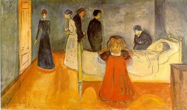 E. Munch. Madre muerta con niña, 1897-1899
