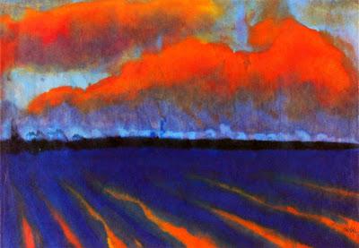 Emil Nolde. Evening Landscape North Frisia