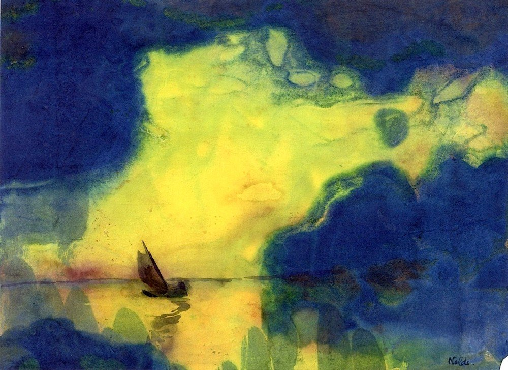 Emil Nolde. The Sea at Dusk