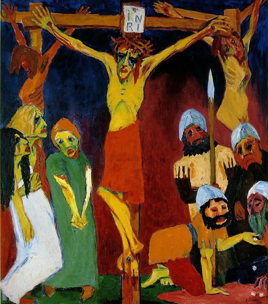 Emil Nolde. La Crucifixión, 1911-1912