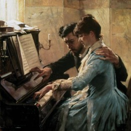 Edelfelt. Al piano, 1884