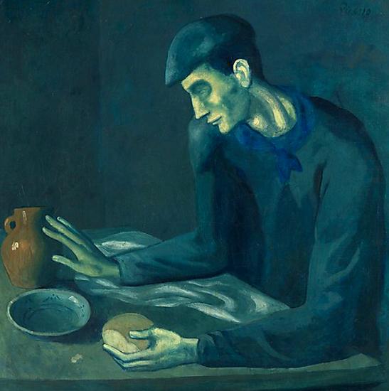 Picasso. La comida del ciego, 1902-1903. Metropolitan Museum