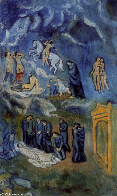 Pablo Picasso. Evocación (El entierro de Casagemas), 1901. Musée d´Art Moderne de la Ville de París