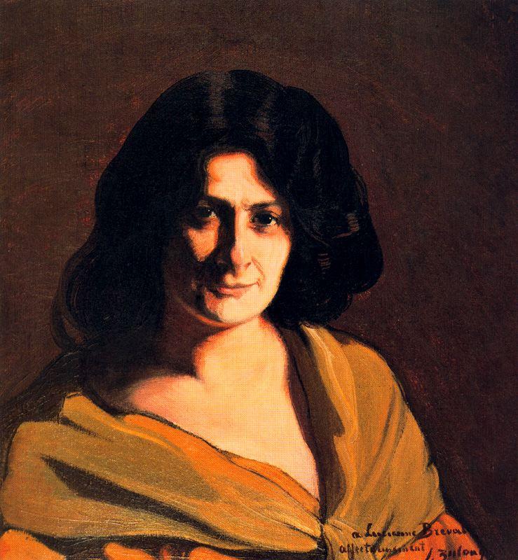 Ignacio Zuloaga. Lucienne Bréval, 1909