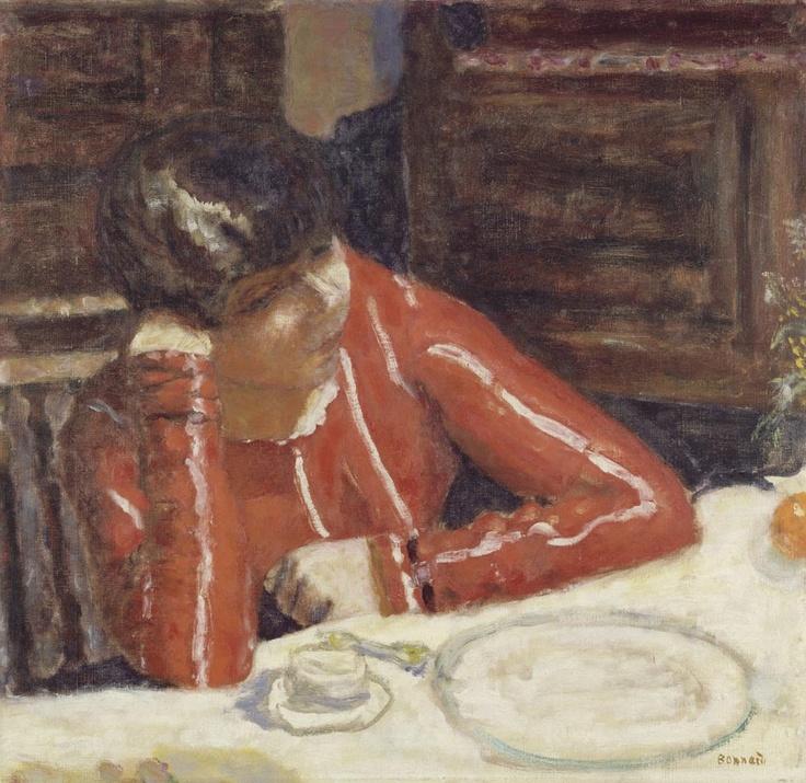 Pierre Bonnard. La blusa roja, 1925