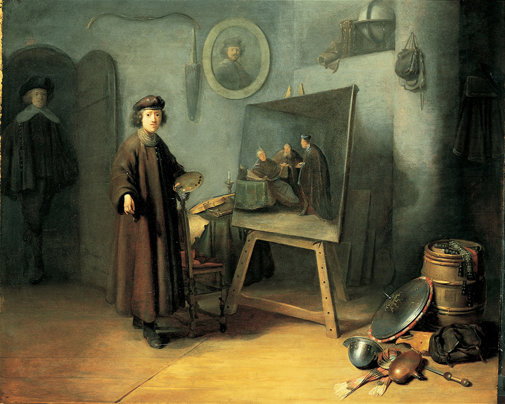 Gerrit Dou. El pintor en su estudio, 1647