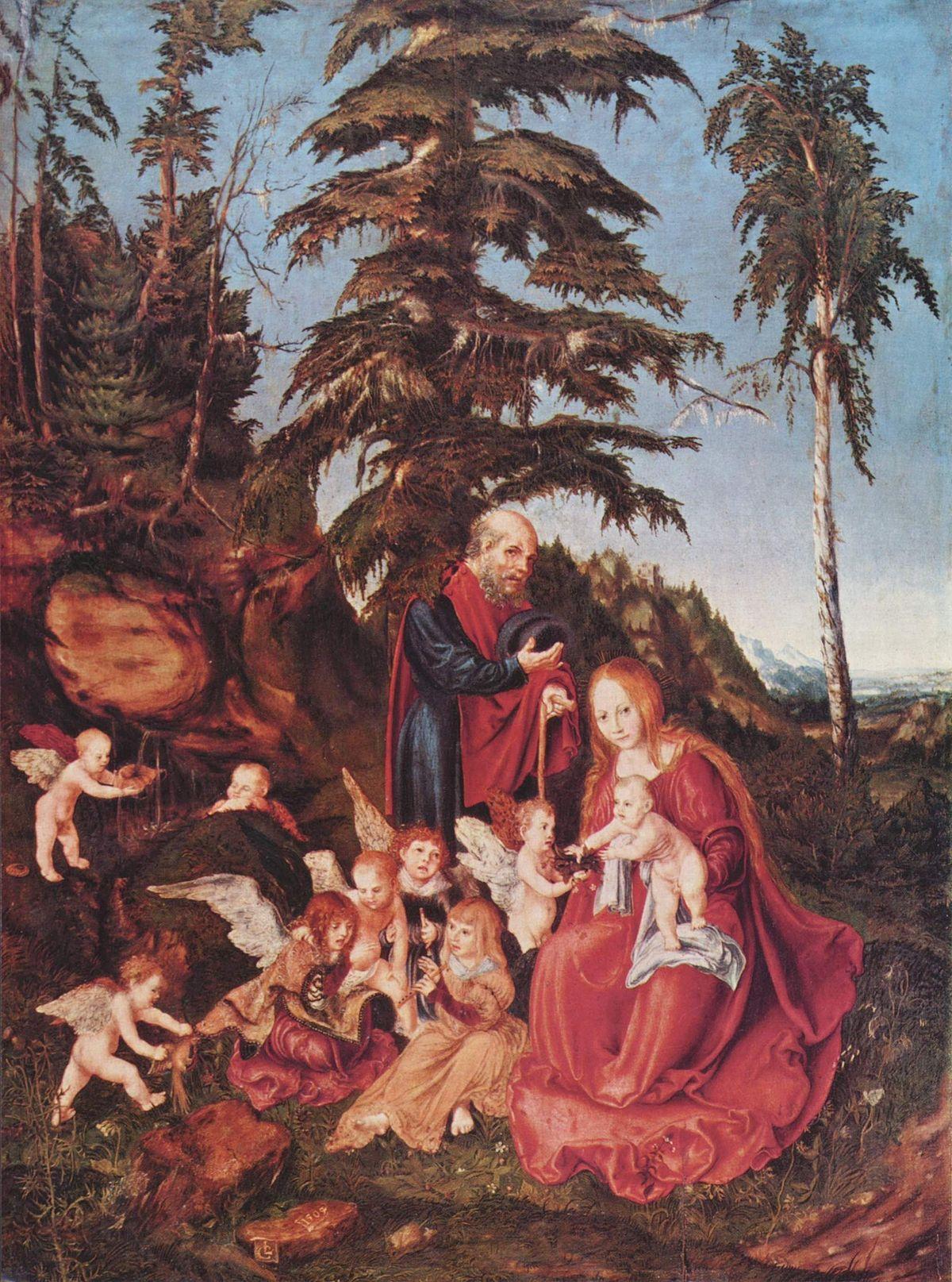 Lucas Cranach El Viejo. Reposo en la huida a Egipto, 1504