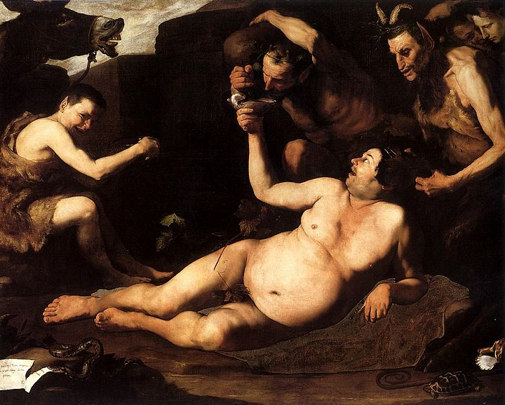 José de Ribera. Sileno ebrio, 1626. Museo de Capodimonte, Nápoles