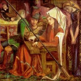 Dante Gabriel Rossetti. La canción de las siete torres, 1857