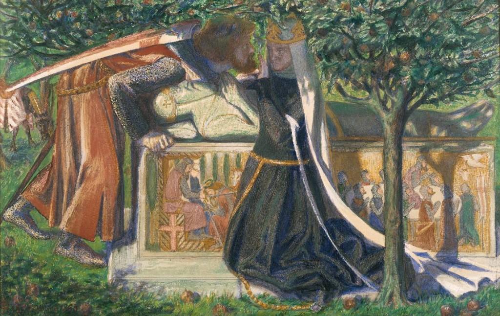 Dante Gabriel Rossetti. La tumba de Arturo, 1860