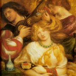 Dante Gabriel Rossetti. Música de mañana, 1864