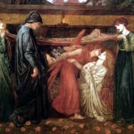 Dante Gabriel Rossetti. Sueño de Dante (de Beatriz muerta), 1871