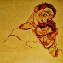 Egon Schiele. Autorretrato doble, 1915