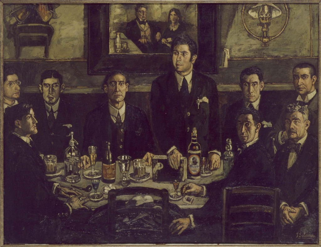 José Gutiérrez Solana. La tertulia del Café Pombo, 1920. Museo Reina Sofía