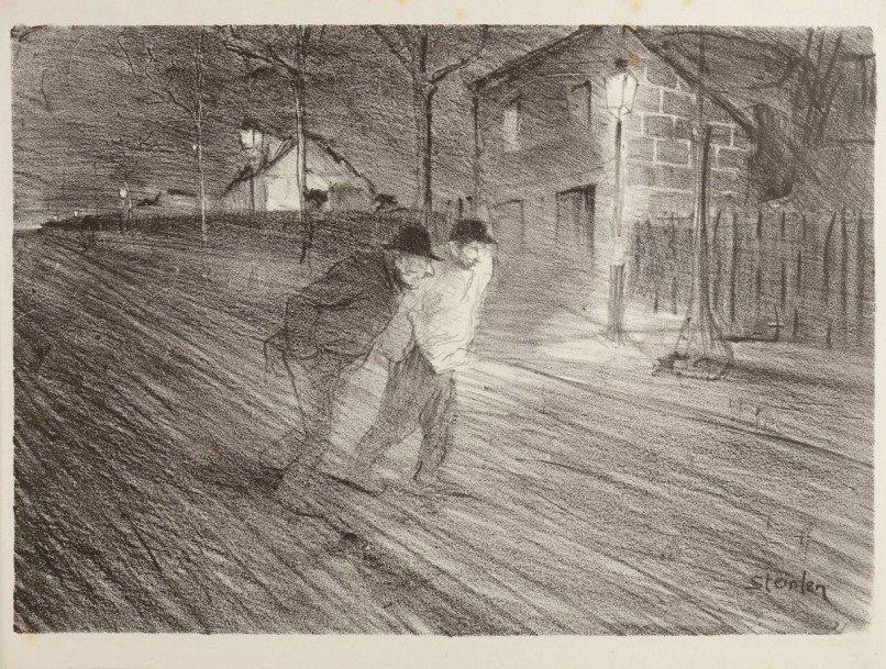 Steinlen. La Rue Caulaincourt, 1896